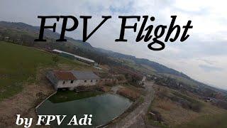 "Taranis Qx7 + 5"" FPV Drone: First GoPro Crash Flight / První GoPro Pád #shorts"