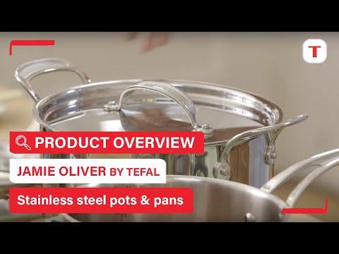 Tefal Jamie Oliver Premium (28cm, Padella per friggere, Acciaio inossidabile)