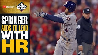 Astros George Springer pours it on with tape-measure HR shot in World Series Game 5 | MLB Highlights