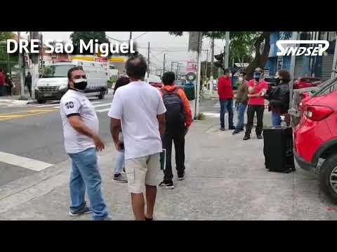 Greve pela Vida   Comandos regionais de trabalhadores/as da Educação em greve fazem atos na cidade