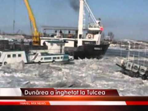 Dunarea a inghetat la Tulcea