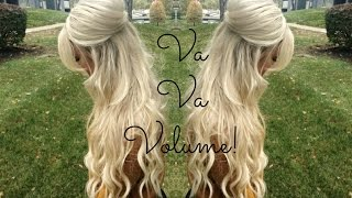 Voluminous Half Up Half Down Hairstyle! | TheBlondeBeautyy