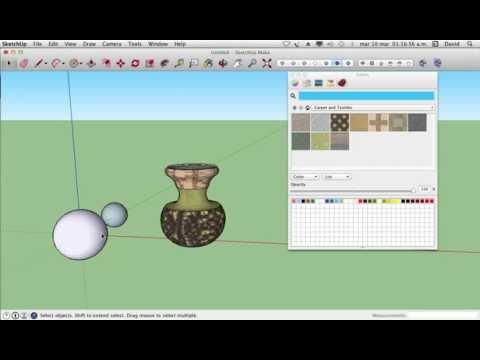 como hacer esferas y jarrones en sketchup