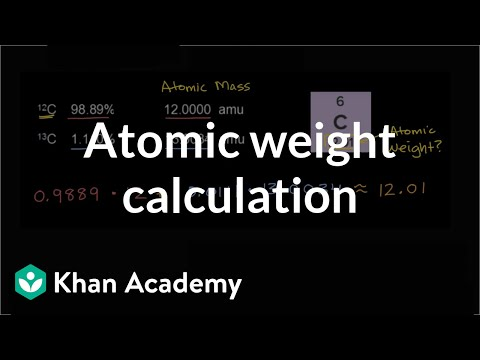 Worked Example Atomic Weight Calculation Video Khan Academy