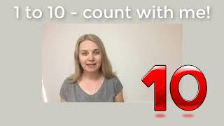 Count from 1 to 10 and back. Easy English