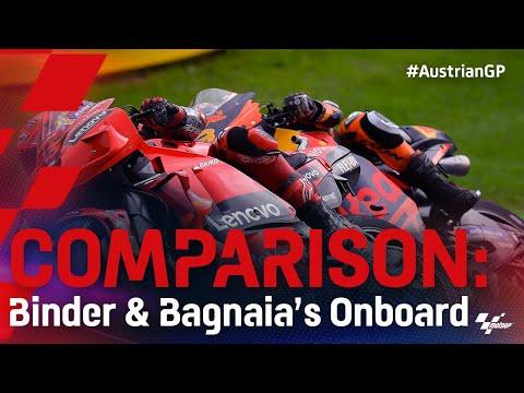 ビンダーとバニャイアを比較したオンボード映像 MotoGP 2021 第11戦オーストリアGP