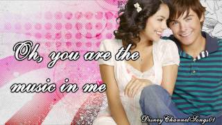 Vanessa Hudgens & Zac Efron [Gabriella & Troy] - You Are The Music In Me With Lyrics