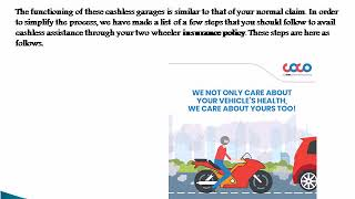 What are cashless garages in bike insurance& how do they work?