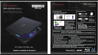 Pioneer BDR-XD07UHD + Cyberlink PowerDVD Ultra 20 - Predator 4k HDR!