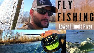 FLY FISHING for TROUT on the Lower Illinois River in OKLAHOMA