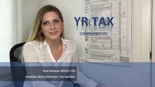 Itemized Tax Deductions Post Tax Reform 2018-2025 | Yana Rudneva, MPACC-Tax