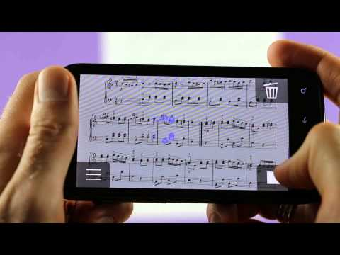 Video of iSeeNotes - sheet music OCR!