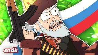 Rick and Morty but it's created in Russia