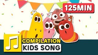 ABC PHONICS SONG AND OTHER SONGS  | 125MIN | LARVA KIDS | SUPER BEST SONGS FOR KIDS