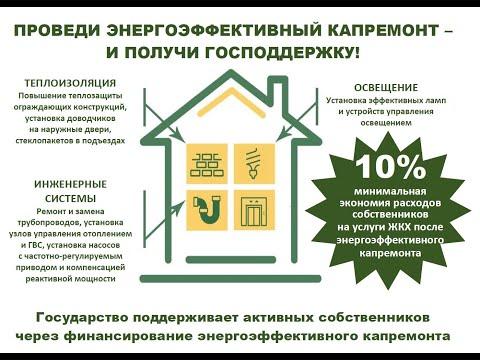 Практика энергоэффективного капремонта МКД. Возмещение затрат от государства. Алгоритм действий
