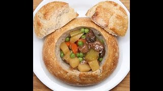 Disneyland's Slow Cooked Beef Stew Bread Bowl
