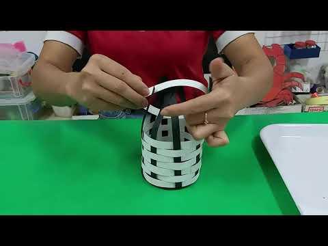 HĐTH: Tạo lọ hoa bằng kỹ thuật đan nong mốt - Trẻ 4-5 tuổi