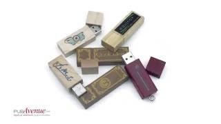 Clé USB personnalisée publicitaire en bois naturel