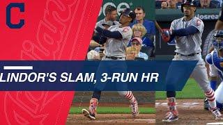 Lindor crushes slam, 3-run HR, plates 7