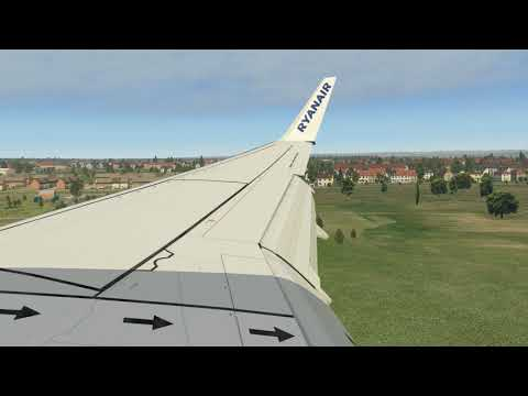 Realistic B737-800 Jet2 com Landing in Larnaca Airport l X