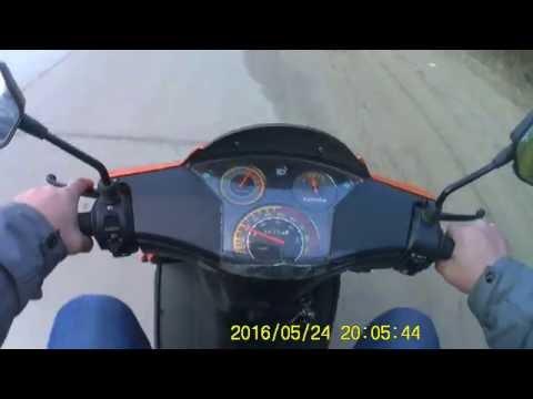 покатушка на китайском скутере по убитой бетонке.