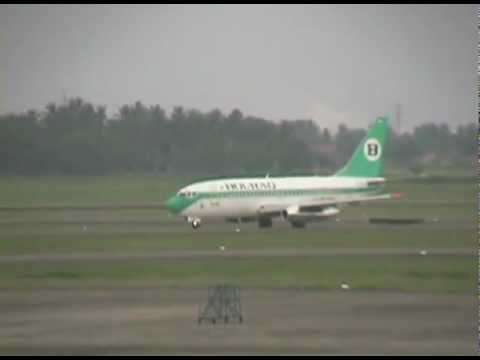 Bouraq Indonesia Airlines Plane Taking Off (Full Ver.)/離陸するボーラック機