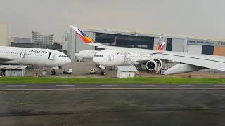 Takeoff Philippine Airlines Airbus A350 from NAIA