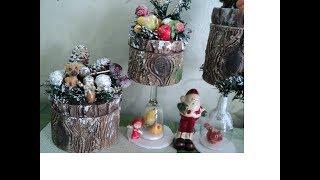 Новогодние  шкатулки-брёвнышки ХоббиМаркет