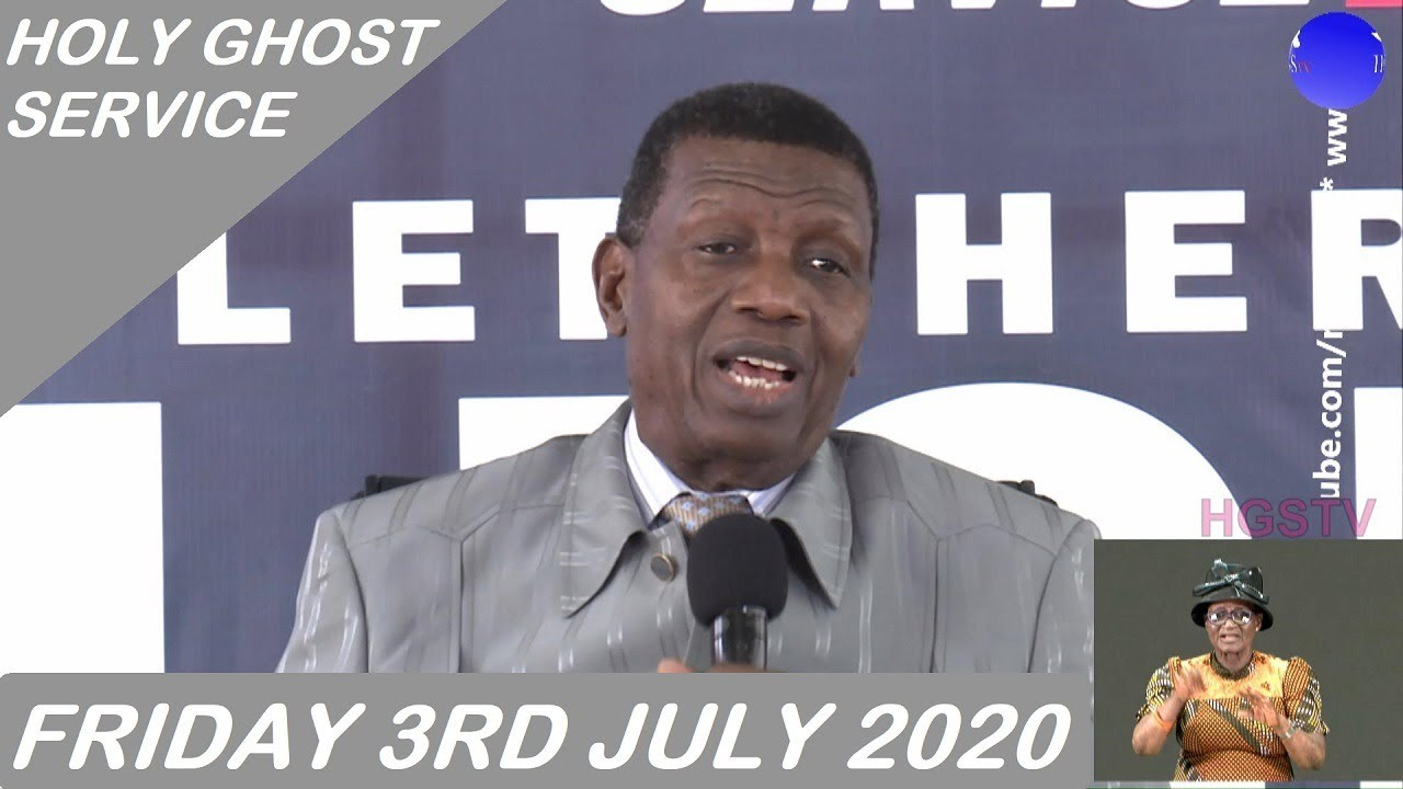 RCCG July 2020 Holy Ghost Service