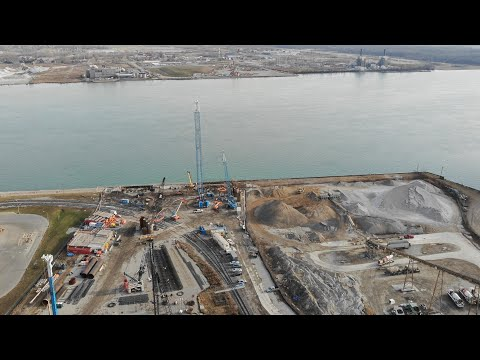 Gordie Howe International Bridge US Project Site Flyover 2020