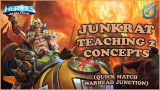 Grubby | Heroes of the Storm - Junkrat - Teaching Two Concepts - Warhead Junction