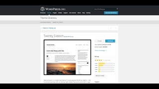 WordPress Twenty Sixteen Theme Demo - 2016