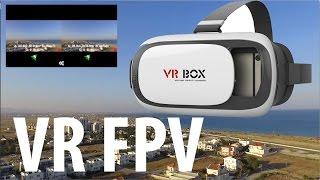 VR FPV Полет в 3d очках на Дроне DJI Phantom 3 standart