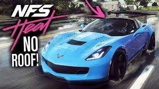 Need for Speed HEAT GAMEPLAY - Convertible/Removable Chevrolet Corvette Roof Customization!