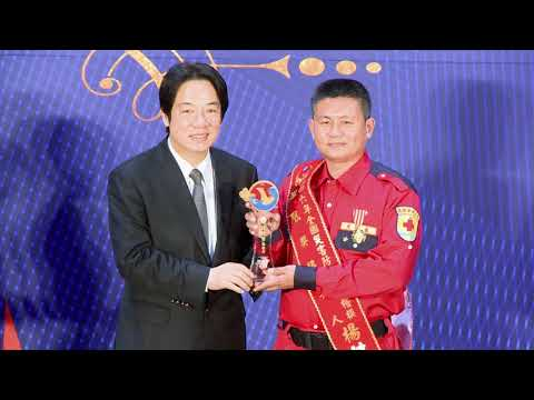 Premier Lai Ching-te presents Phoenix Awards to heroic firefighters