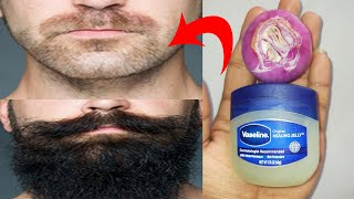 How to grow beard faster naturally at home with onion and vaseline | Beard growth oil