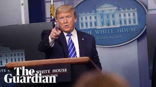 Trump holds briefing amid disinfectant row as US coronavirus deaths pass 50,000 – watch live