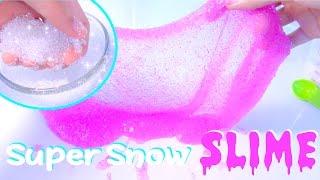 DIY Super Snow Slime Glitters - Kids' Toys