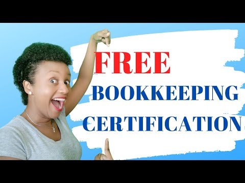 Free Bookkeeping Certification Online in Quickbooks Online and ...