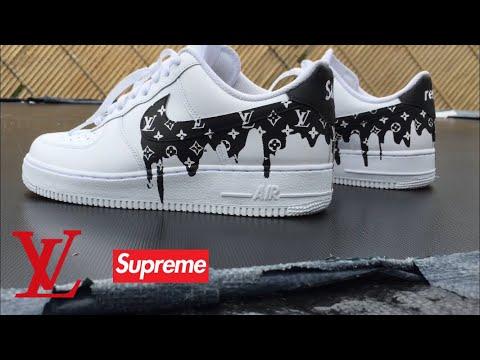 0a409f153a14 Louis Vuitton Drippy custom Nike Air Force 1 custom - Youtube Download