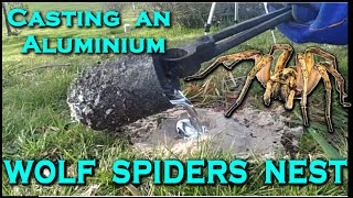 Casting a TRAPDOOR / WOLF SPIDERs nest out of MOLTEN ALUMINIUM! - Creating the cthulhu tentacle - Video Youtube
