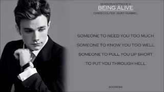 Glee _ Being Alive Lyrics