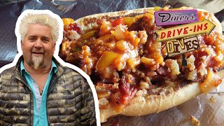 Guy Fieri Recreates A Bacon-Wrapped Fried Hot Dog At Home | #DDD Takeout