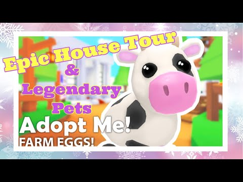 Roblox Adopt Me House Tour And Legendary Pets | Bella Mix Christmas Vlogmas