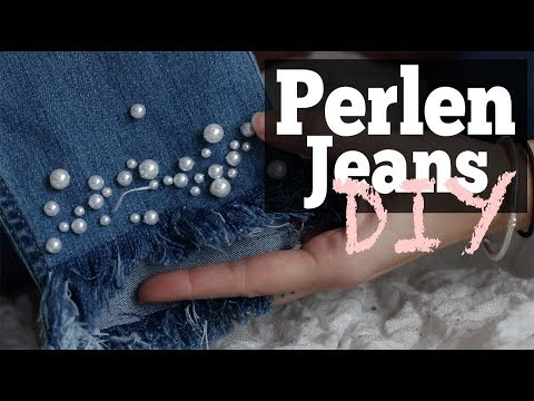 DIY Perlenjeans |Pearl Jeans |Blogger styling