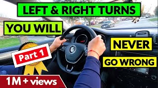 Interesting Tips on how to turn LEFT & RIGHT - Beginner Driver Lesson || #DrivingLesson