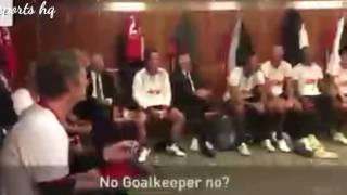Sir Alex Ferguson team talk to the 08 Manchester United team during Michael carrick's testimonial