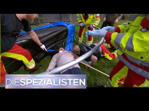 Trampolin-Tragik: Aufgespießt durch Gartengerät! | Auf Streife - Die Spezialisten | SAT.1 TV