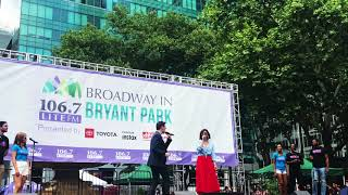 """Katharine McPhee and Erich Bergen Sing """"Bad Idea"""" Live at Broadway in Bryant Park"""