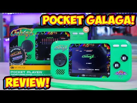 My Arcade Pocket Player Galaga, Galaxian & Xevious Review! Cheap Handheld!